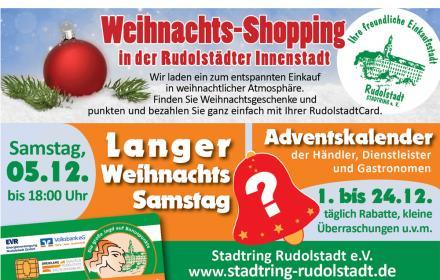 Adventskalender und langer Weihnachts-Samstag am 05.12.